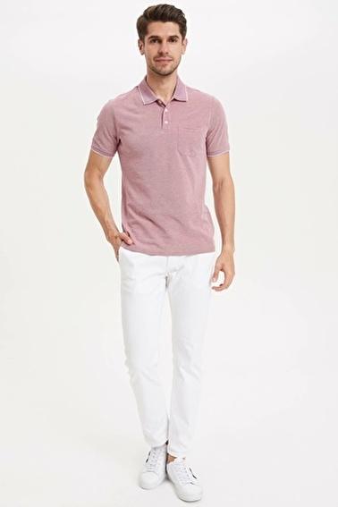 DeFacto Regular Fit Polo T-Shirt Bordo